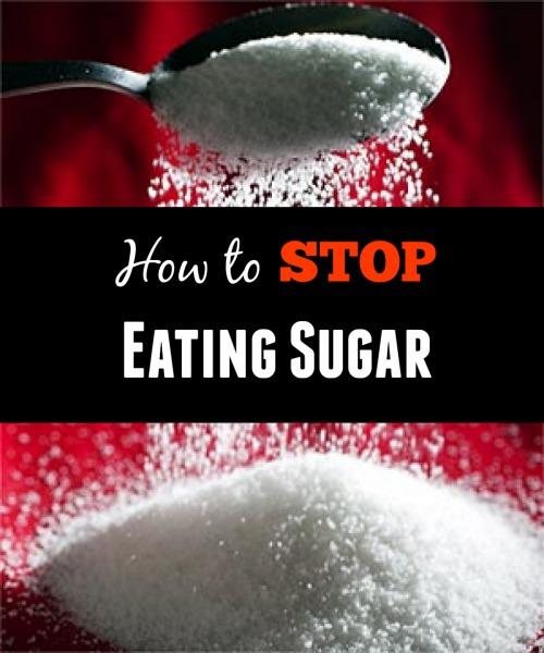 say goodbye stop eating sugar