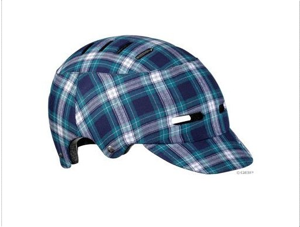 Cool bike helmet blue plaid