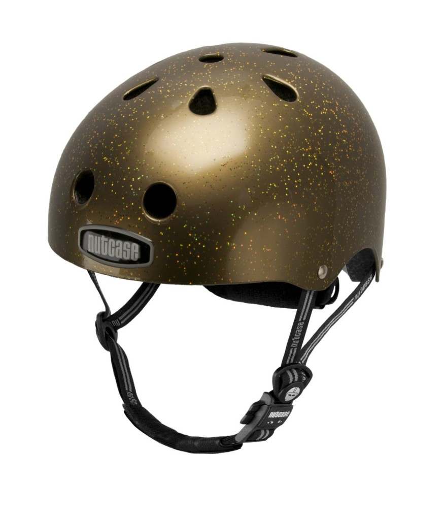 cool bike helmet gold nutcase helmet