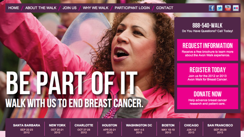 Avon breast cancer walk