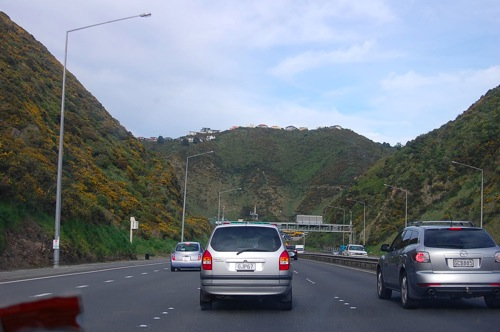 Headed into wellington