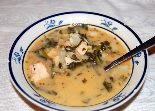 Coconut ginger chicken soup
