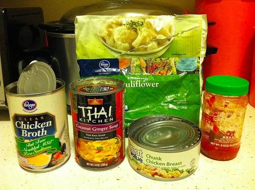 Ingredients for random soup