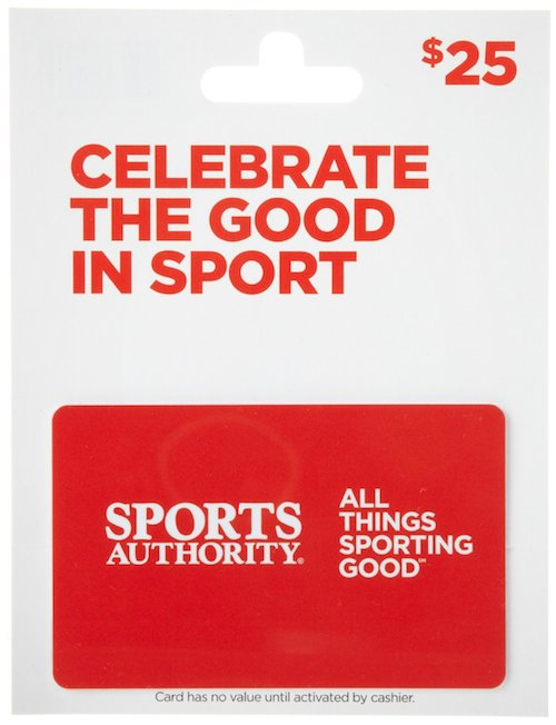 healthy christmas gift idea - sports authority gift card