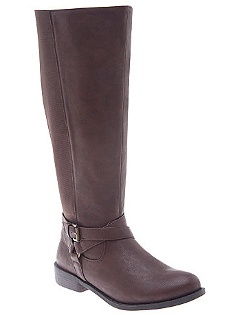 wide calf boot - stretch back riding boot from lane bryant