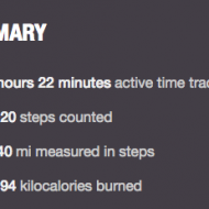 Weekend Step Counts