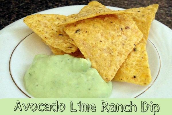 avocado lime ranch dip