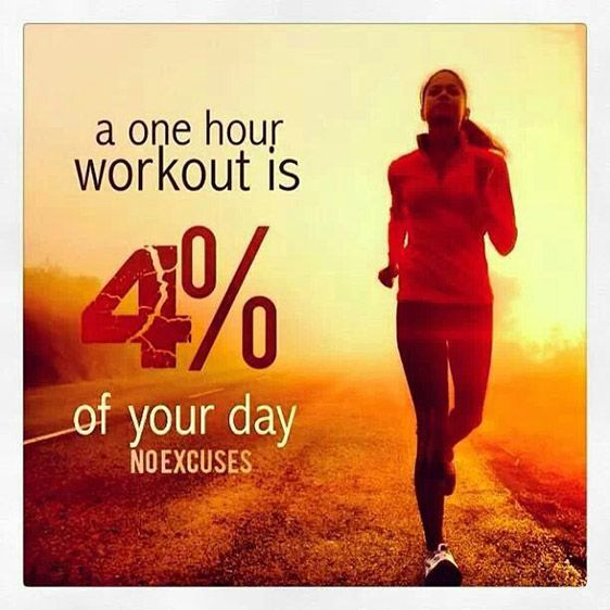 fitness motivation quote - one hour workout