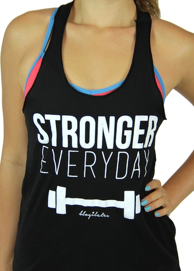 fitness motivation clothes - stronger everyday gym tank