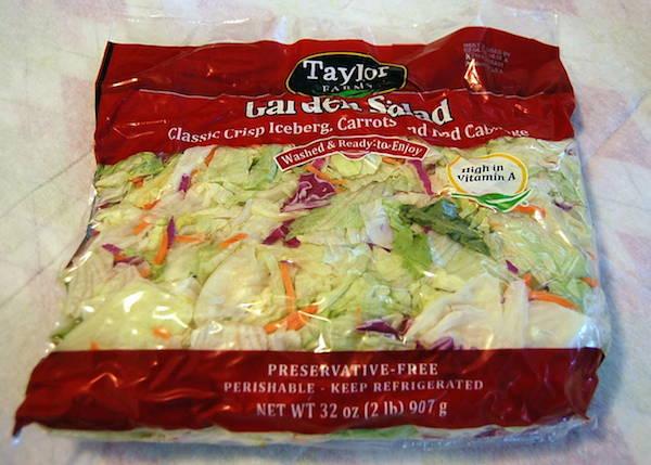 grocery haul -  salad mix