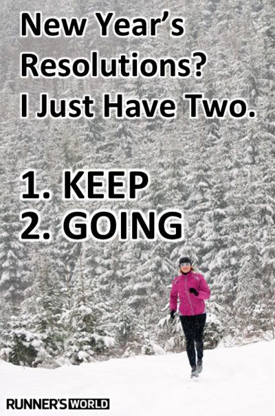 inspiring new years resolutions - keep going