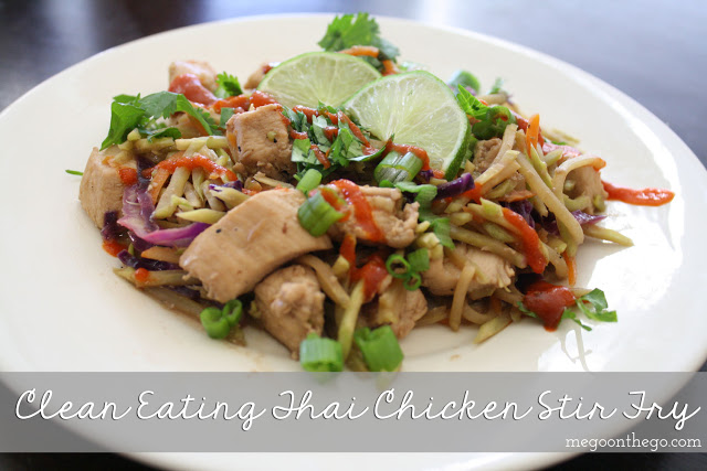 healthy recipe - clean eating thai chicken stir fry
