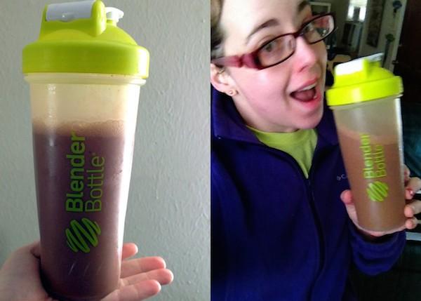meal replacement shake - blender bottle