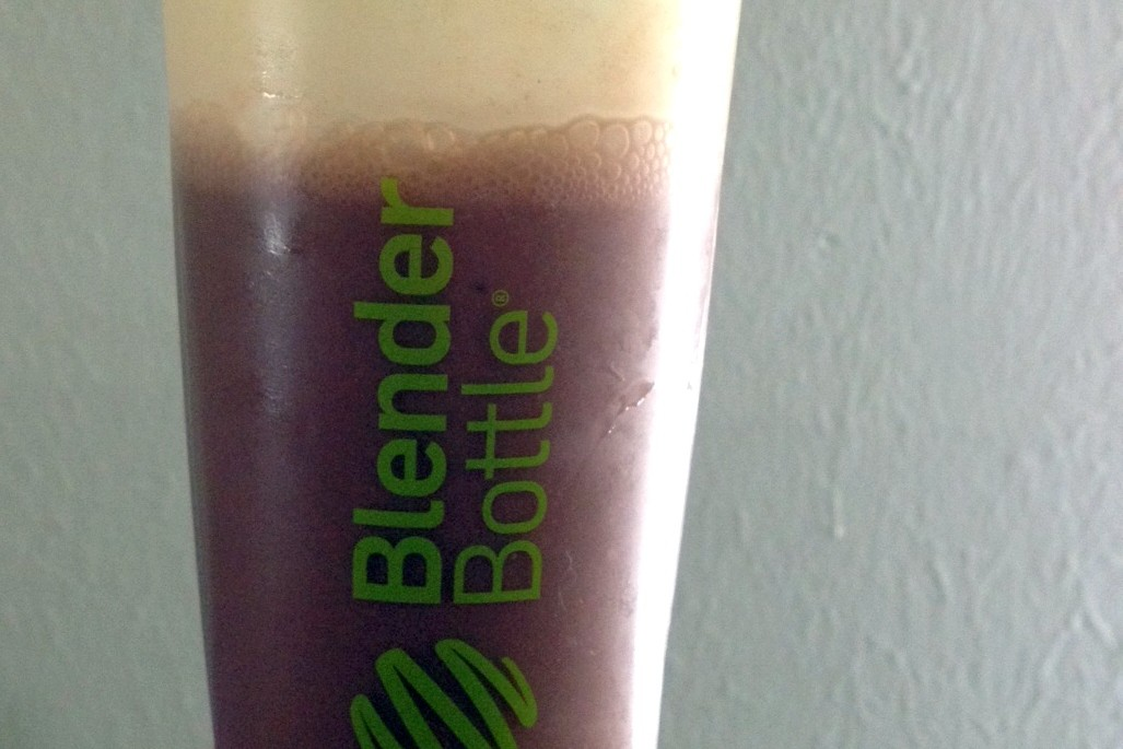 meal replacement shake in blender bottle