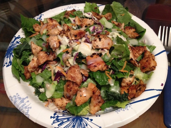 salad with grilled chicken - advocare 24 day challenge day 18