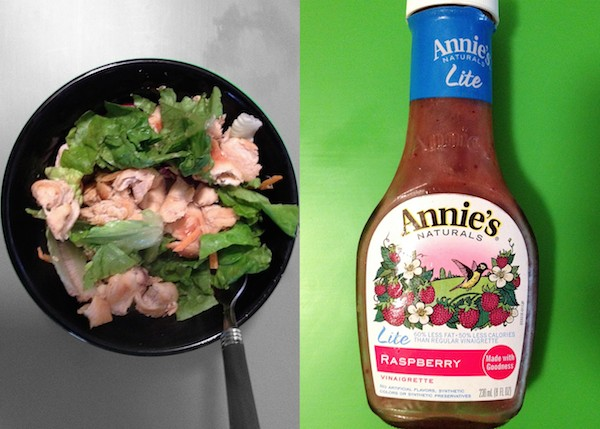 salad with grilled chicken and annies light dressing