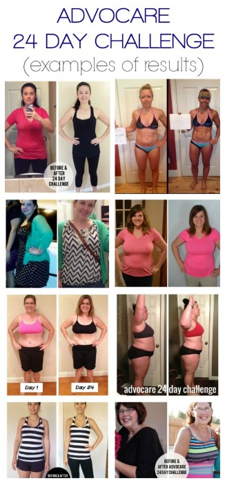 advocare 24 day challenge results examples