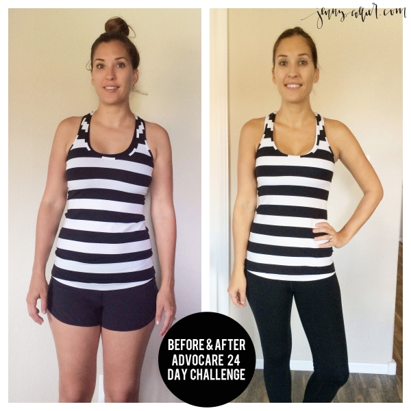 before and after advocare challenge - jenny collier