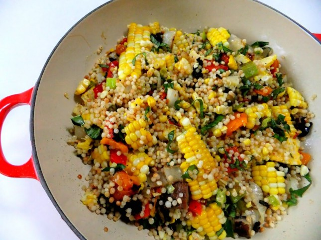... and this mix of grilled vegetables sounds perfect mixed with couscous