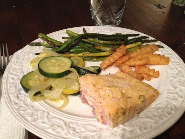 salmon dinner -advocare 24 day challenge day 24