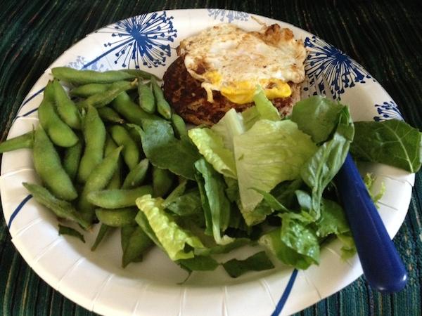 turkey burger + egg + greens - advocare 24 day challenge food