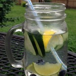 cucumber lime blueberries detox water