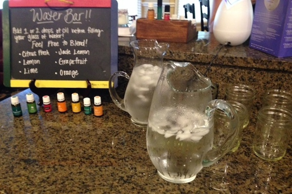 essential oils water bar