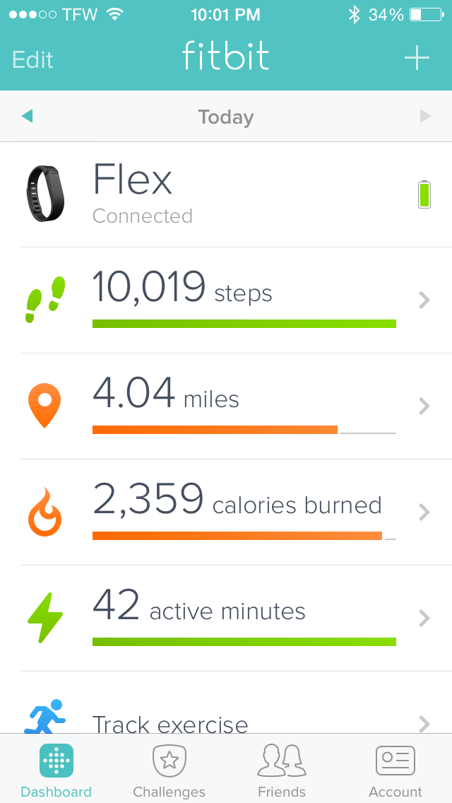 fitbit 10,000 steps per day