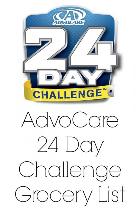advocare 24 day challenge grocery list ideas