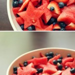 fourth of july recipe - cookie cutter stars salad