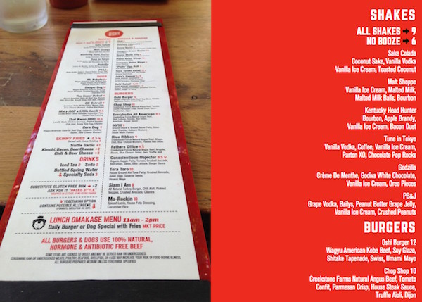 memphis restaurants oshi burger menu