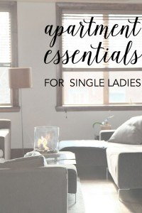 Apartment Essentials For Single Ladies | A Merry Life