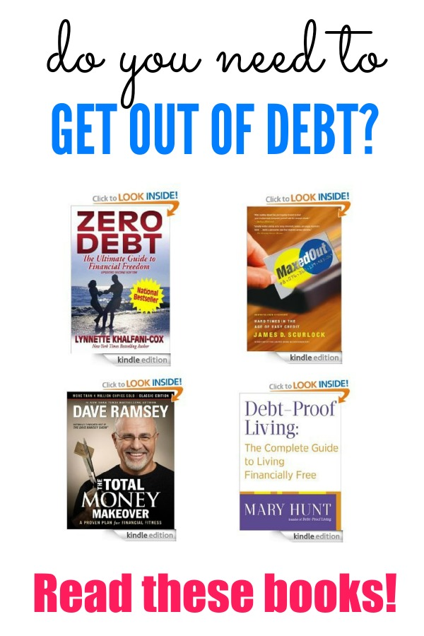 best books to read when getting out of debt
