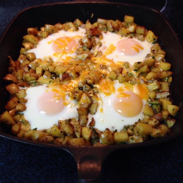 brunch eggs and potato