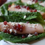 champagne grapes and turkey roll ups with feta