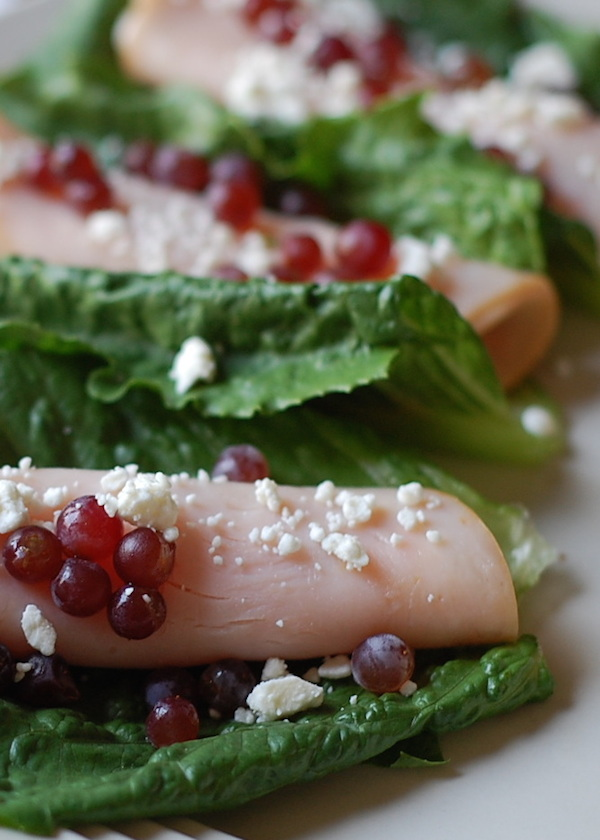 champagne grapes lunch idea with turkey