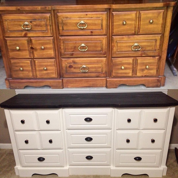 diy painted white dresser furniture makeover. DIY White Painted Dresser   A Merry Life