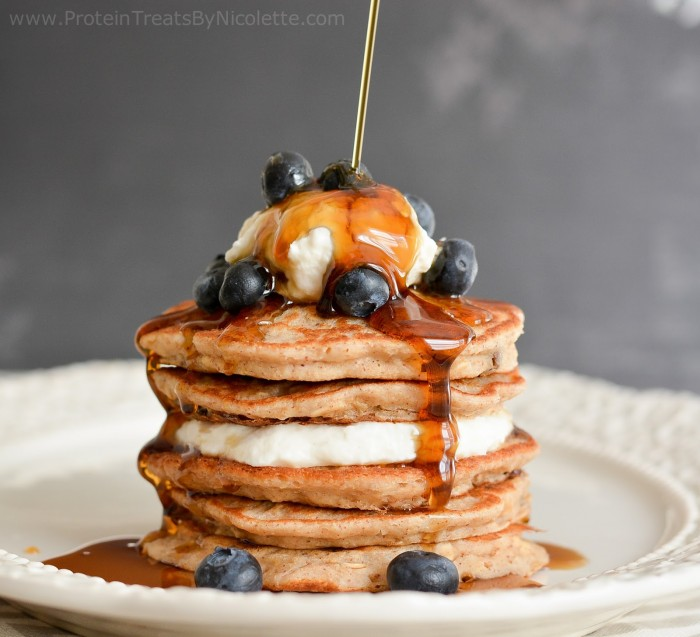 oatmeal raisin cookie protein pancakes