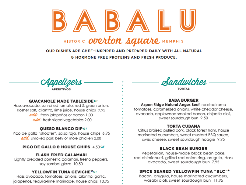 babalu tacos and tapas in overton square memphis