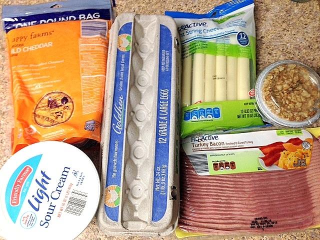 breakfast food grocery haul at aldi grocery store