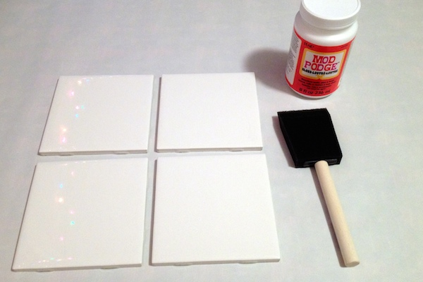 diy coaster project step mod podge the top