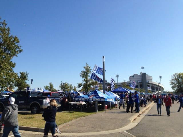 memphis tigers vs ole miss rebels football game tailgate tiger lane