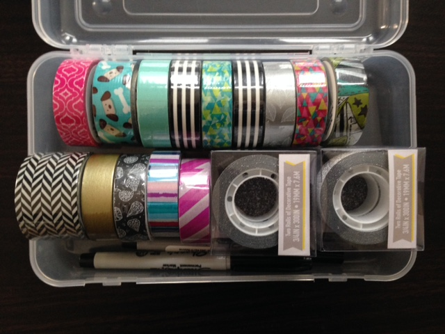 washi tape haul craft supplies