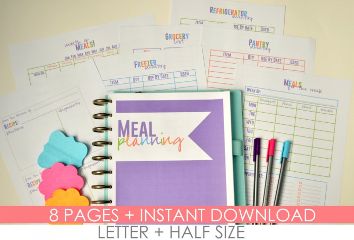 8 page meal planner by Mamas Got It Together