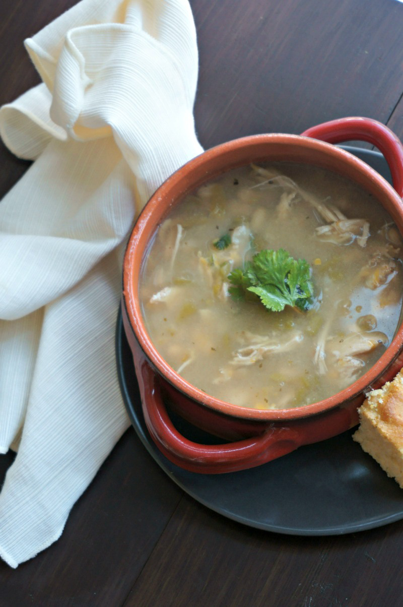 Crockpot White Chicken Chili by a Mindful Mom