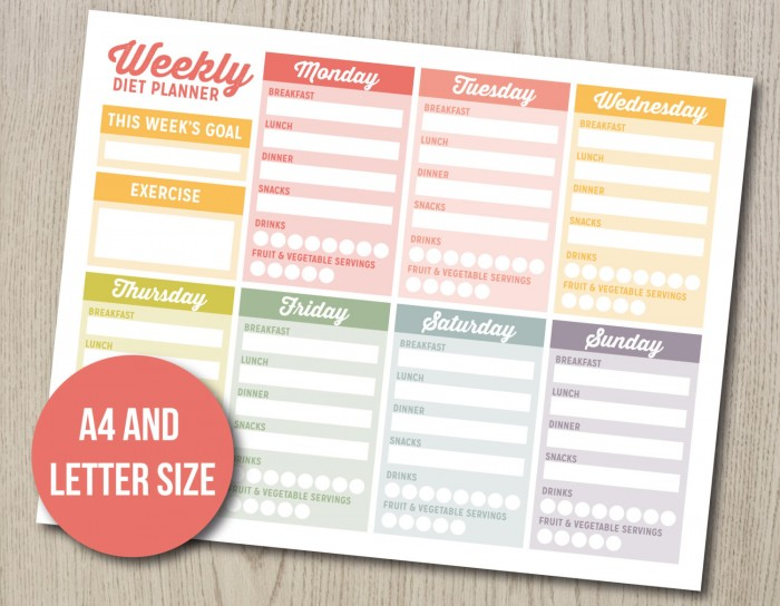 Weight Loss Journal Meal Planner by Hayah Designs