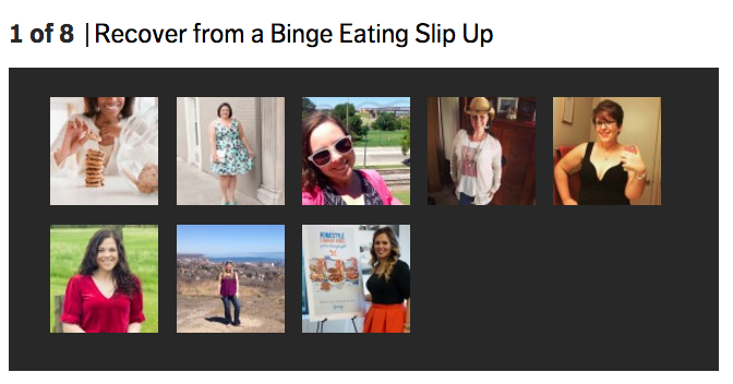 shape.com magazine feature on binge eating