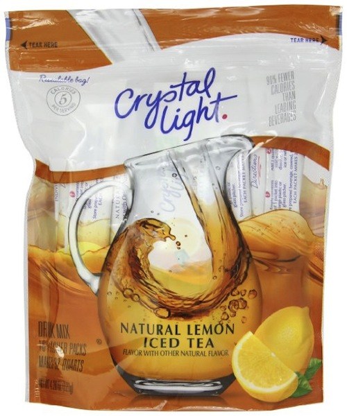 drink more water with crystal light tea