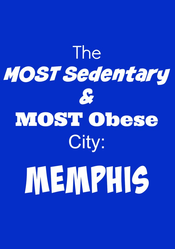 memphis is the most sedentary and obese city