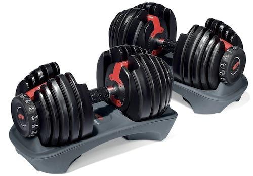 christmas gift idea - bowflex weight dumbbells